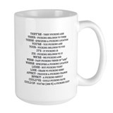 Grammar Large Mugs (15 oz)