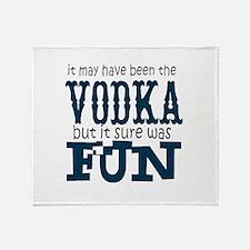 Vodka fun Throw Blanket