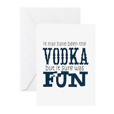 Vodka fun Greeting Cards