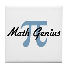 Math Genius Tile Coaster