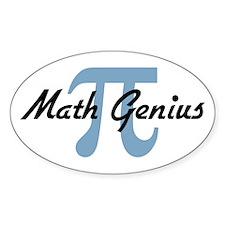 Math Genius Oval Decal