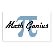 Math Genius Rectangle Decal