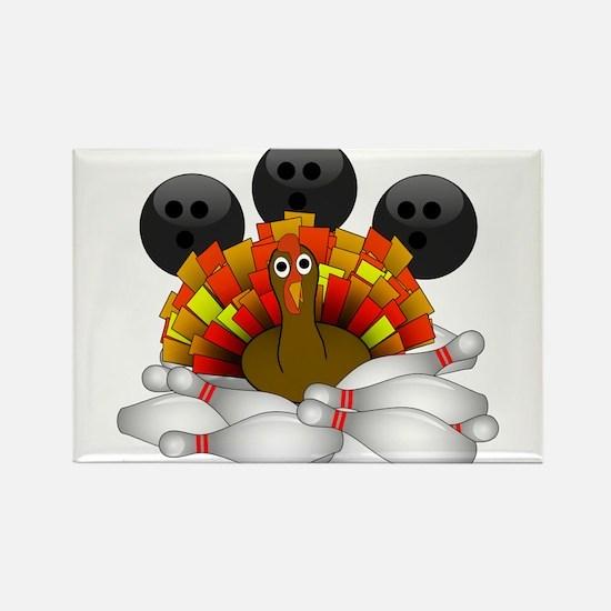 Bowling Strike! Bowling Turkey Magnets