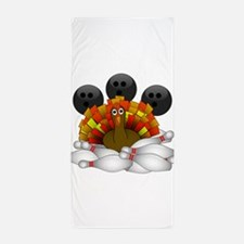 Bowling Strike! Bowling Turkey Beach Towel