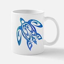 Honu Sea Turtle Blue Green Tribal Watercolor Mugs