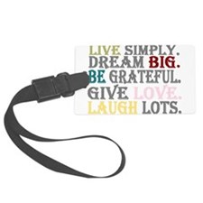 live simply Luggage Tag
