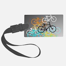 Colored Bikes Design Luggage Tag