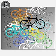 Colored Bikes Design Puzzle
