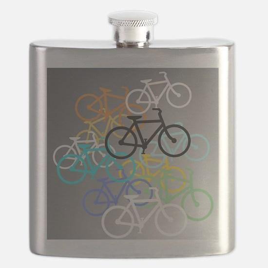 Colored Bikes Design Flask
