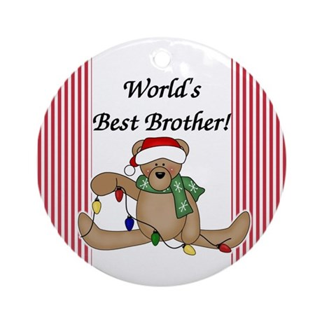 Bear World's Best Brother Ornament (Round)