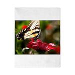 Butterfly on Red Flower Twin Duvet