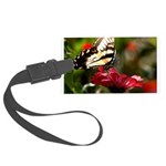 Butterfly on Red Flower Luggage Tag