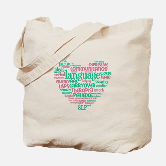 SLP Heart Tote Bag
