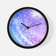 FROZEN SNOWFLAKES Wall Clock