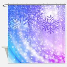 FROZEN SNOWFLAKES Shower Curtain
