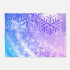 FROZEN SNOWFLAKES 5'x7'Area Rug