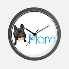 Cute Bulldog mom Wall Clock