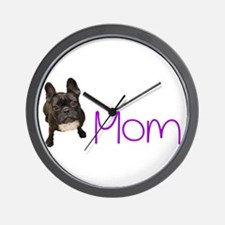 Funny Bulldog mom Wall Clock