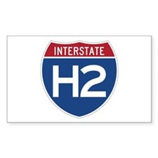 Interstate H2 Rectangle Decal