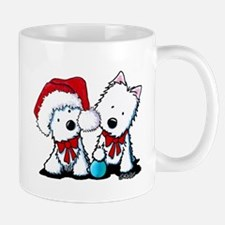 KiniArt Christmas Westies Mug