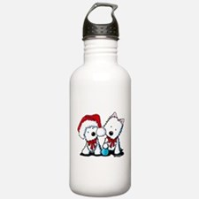 KiniArt Christmas West Water Bottle