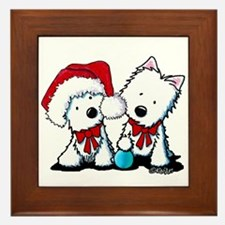 KiniArt Christmas Westies Framed Tile