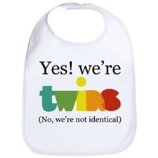 Twin girls Bib