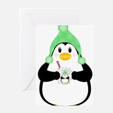Penguin with Hot Cocoa Greeting Cards