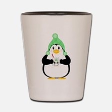 Penguin with Hot Cocoa Shot Glass