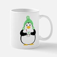 Penguin with Hot Cocoa Mugs