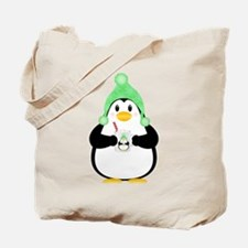 Penguin with Hot Cocoa Tote Bag