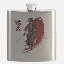 Cute Samurai Flask