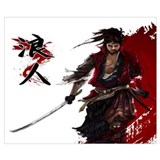 Bushido Wrapped Canvas Art
