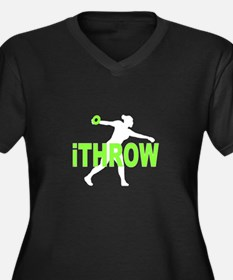 Green Thrower Discus Plus Size T-Shirt