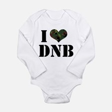 Cute I heart house music Long Sleeve Infant Bodysuit