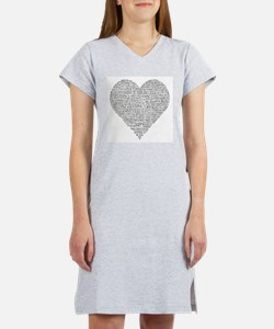 Chiropractic Heart-Shaped Word Collage Women's Nig
