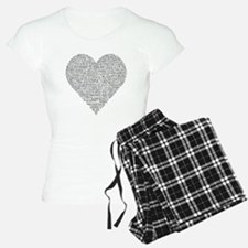 Chiropractic Heart-Shaped Word Collage Pajamas