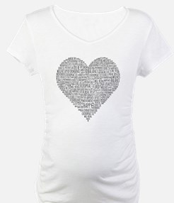 Chiropractic Heart-Shaped Word Collage Shirt
