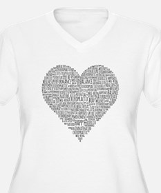 Chiropractic Heart-Shaped Word Collage Plus Size T