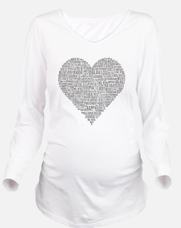 Chiropractic Heart-Shaped Word Collage Long Sleeve