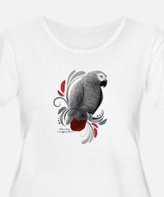 African Grey Plus Size T-Shirt