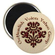 """Outlandish Voices Magnets 2.25"""" Magnet (10 pack)"""