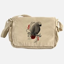 African Grey Messenger Bag