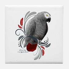 African Grey Tile Coaster