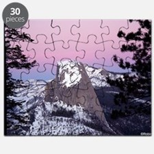 Half Dome during the winter, at sunset, fro Puzzle