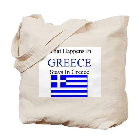 What Happens in Greece Tote Bag