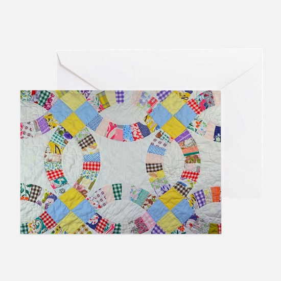 Unique Quilt patterns Greeting Card