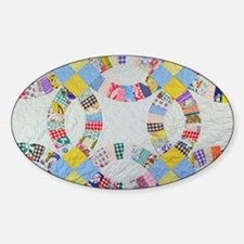 Colorful patchwork quilt Decal