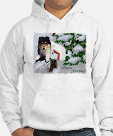 Collie Puppy Christmas Hoodie
