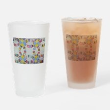Colorful patchwork quilt Drinking Glass